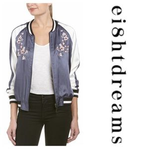Ei8ht Dreams Embroidered Reversible Bomber Jacket
